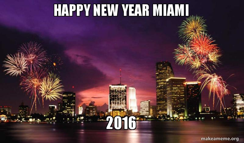 happy new year miami 2016