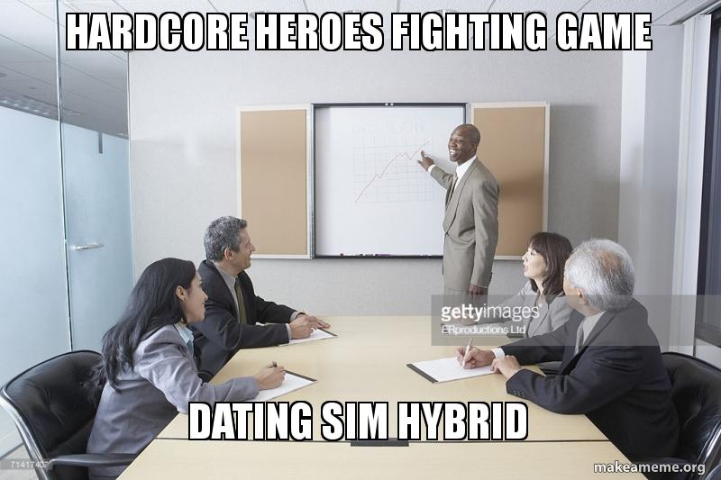 Dating sim fighting game