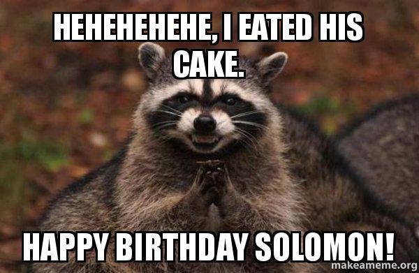 Happy Birthday Solomon Cake