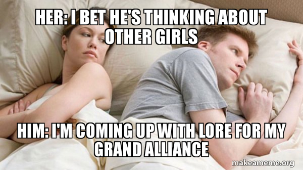 Couple thinking in bed meme