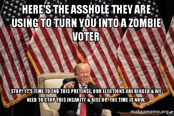 Heres The Asshole They Are Using To Turn You Into A Zombie Voter