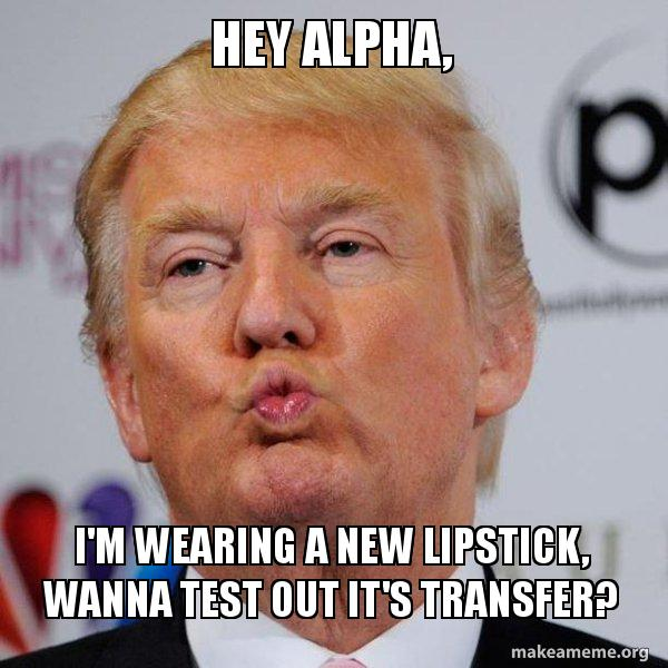 alpha m kissing