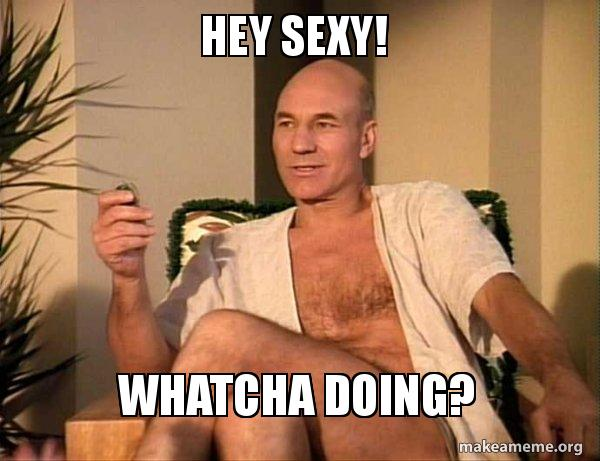 hey sexy pvnhak hey sexy! whatcha doing? sexual picard make a meme