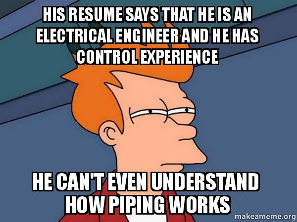His Resume Says That He Is An Electrical Engineer And He