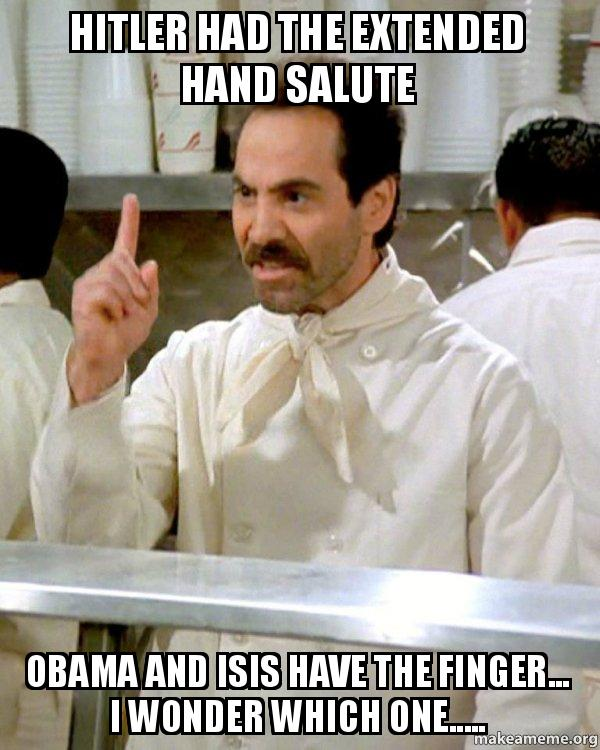 Hitler had the extended hand salute Obama and ISIS have ...