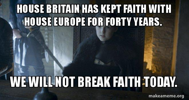House Britain Has Kept Faith With House Europe For Forty Years We
