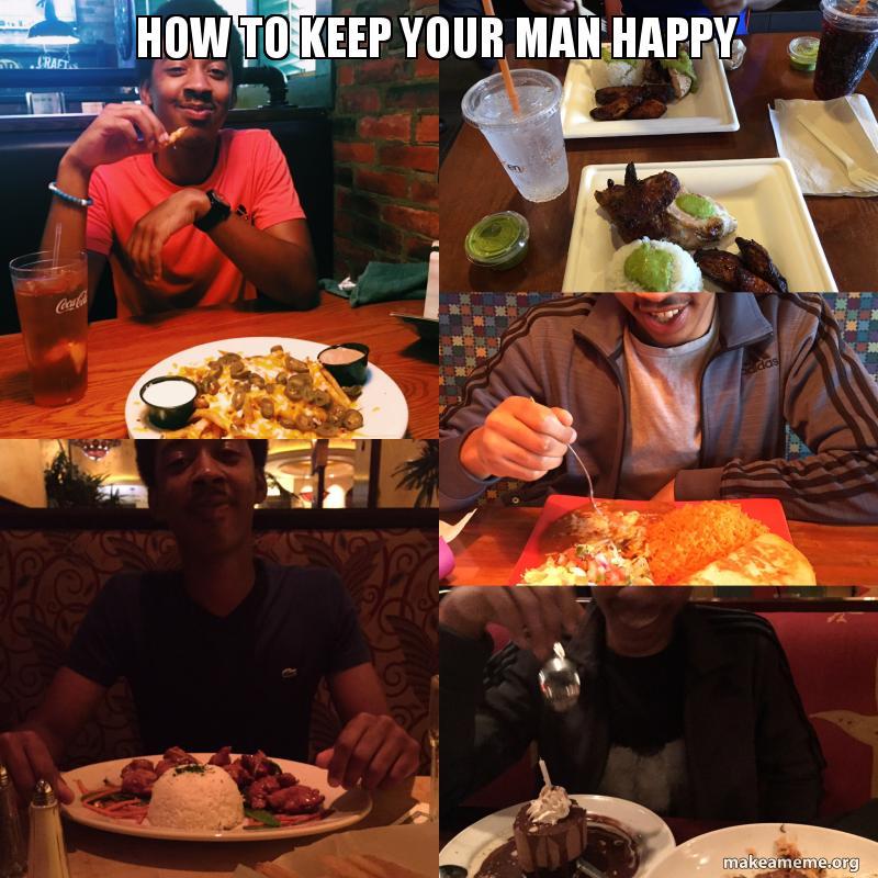 how do you keep a man happy