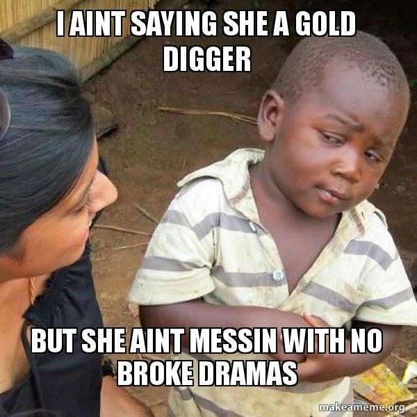 Image result for She Seems to Be a Gold Digger meme