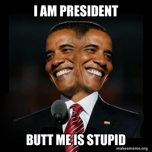 Two Faced Obama meme