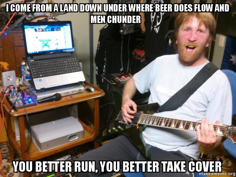 how to play land down under on guitar