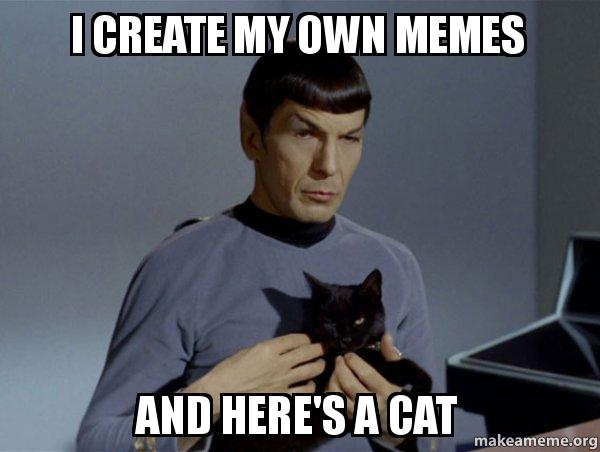 Spock and Cat Meme meme