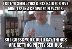 a crowded elevator smells differently to a midget