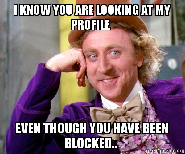 I Know You Are Looking At My Profile Even Though You Have Been