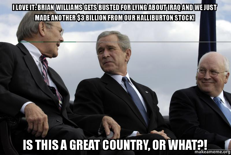 I love it: Brian Williams Gets Busted for Lying About Iraq
