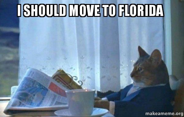i should move to florida sophisticated cat make a meme. Black Bedroom Furniture Sets. Home Design Ideas