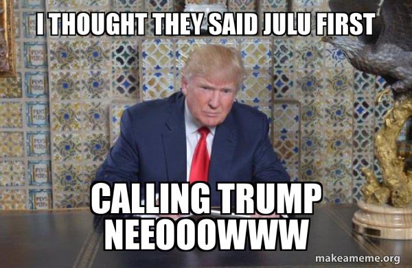 Donald Trump Writing Speech meme