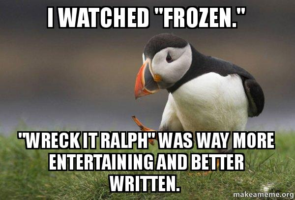 """I watched """"Frozen..."""