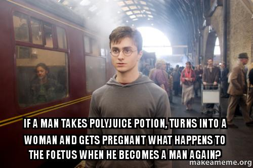 If A Man Takes Polyjuice Potion, Turns Into A Woman And-7916