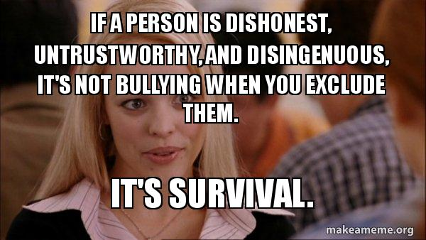 Image result for survival of mean girls meme
