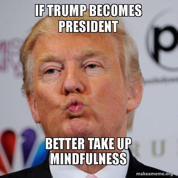 If trump becomes president Better take up mindfulness ...