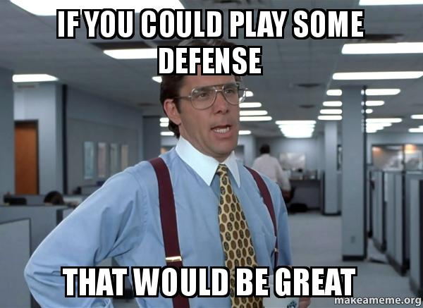 Image result for where's the defense meme