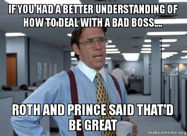"""building a better boss To be a better boss, know your default settings  when someone told him, """"you  don't build bridges,"""" and he immediately recognized the truth."""