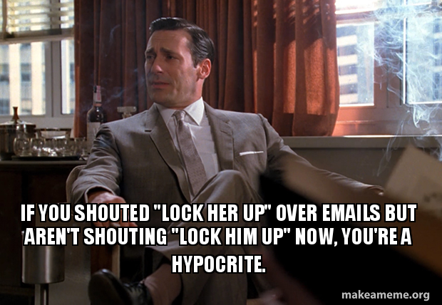 If You Shouted Lock Her Up Over Emails But Arent Shouting Lock