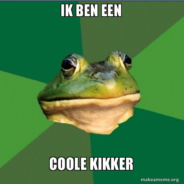 Ik ben een coole kikker - Foul Bachelor Frog   Make a Meme