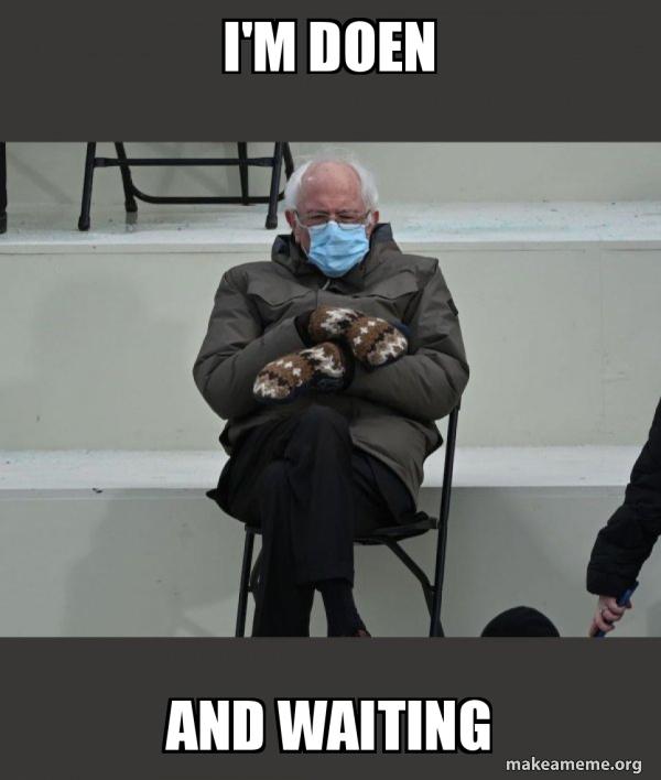 Bernie Sanders at the Inauguration meme