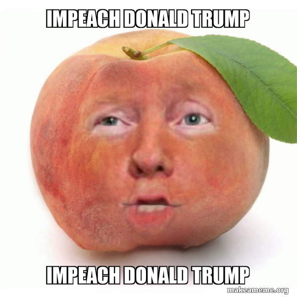 Impeached Donald Trump meme