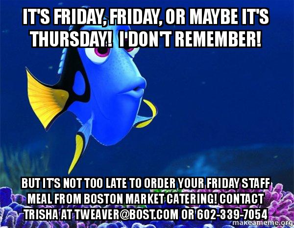 its friday friday r279x8 it's friday, friday, or maybe it's thursday! i don't remember! but