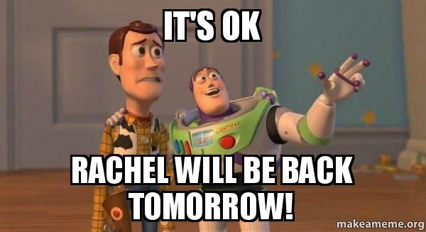 ... will be back tomorrow! - Buzz and Woody (Toy Story) Meme | Make a Meme