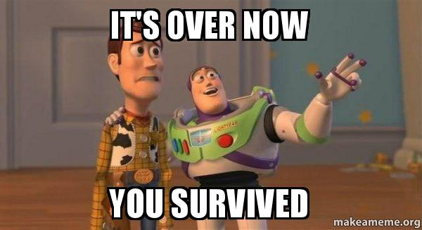 It's Over Now You Survived - Buzz and Woody (Toy Story) Meme ...