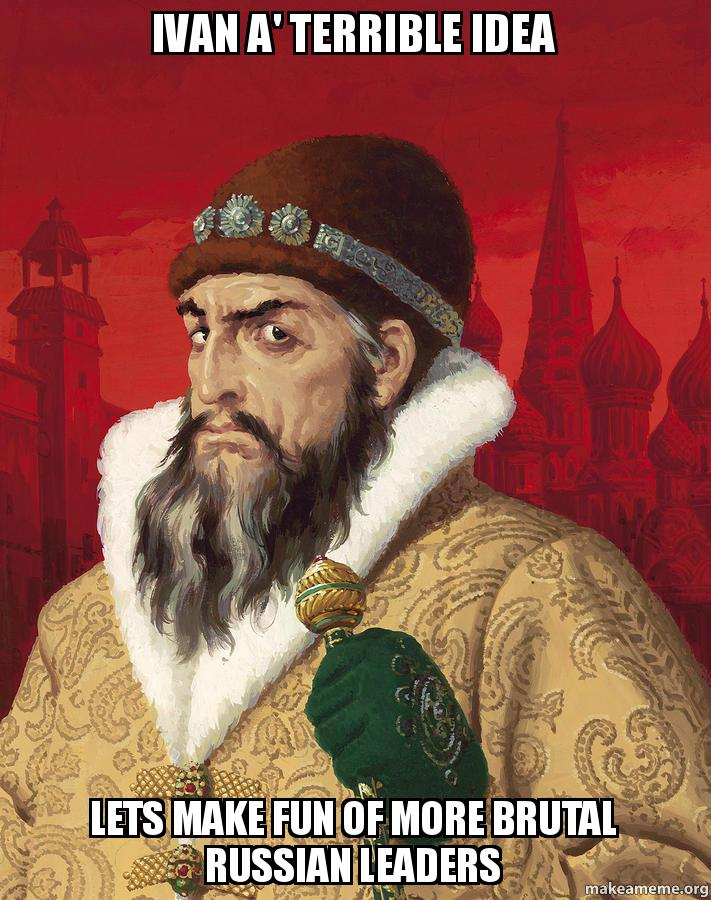 a report on the biography of ivan the terrible Bibliography bos, carole d ivan 2013 ivan-terriblehtm ivan the terrible biographycom/people/ivan-the.