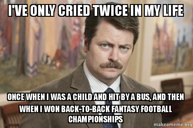 I've only cried twice in my life Once when I was a child ...