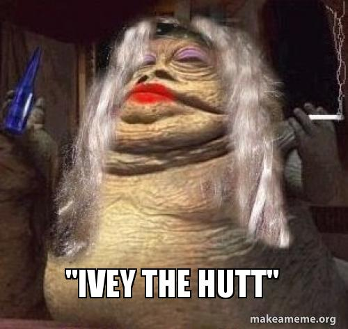 Ivey The Hutt Wanted For Unlawful Impersonation Of A Star Wars