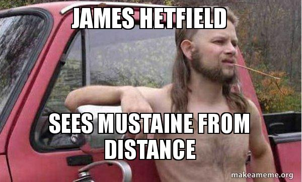 james hetfield sees james hetfield sees mustaine from distance almost politically