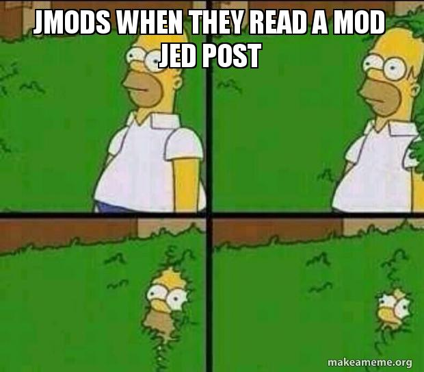 JMODS WHEN THEY READ A MOD JED POST | Make a Meme