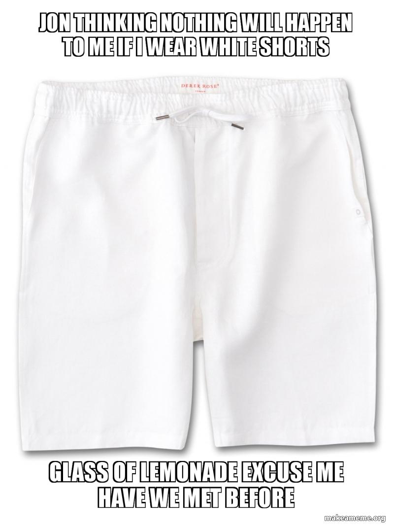 white shorts meme