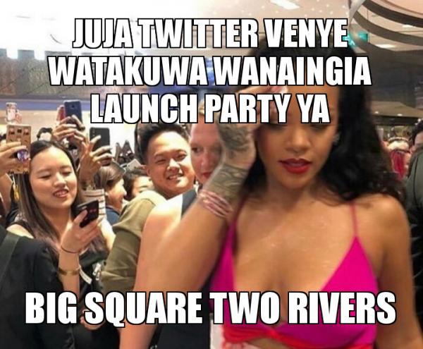 Juja Twitter Venye Watakuwa Wanaingia Launch Party Ya Big Square Two
