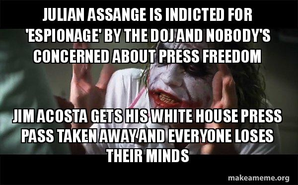 Julian Assange is indicted for 'espionage' by the DOJ and