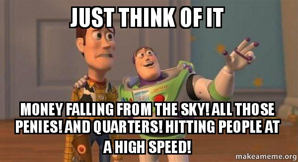 ... at a high speed! - Buzz and Woody (Toy Story) Meme   Make a Meme