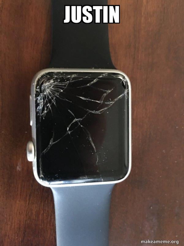 Broken Apple Watch meme