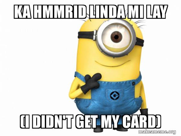 Thoughtful Minion  meme