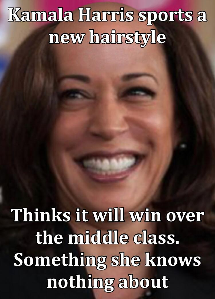 Kamala Harris sports a new hairstyle Thinks it will win over the