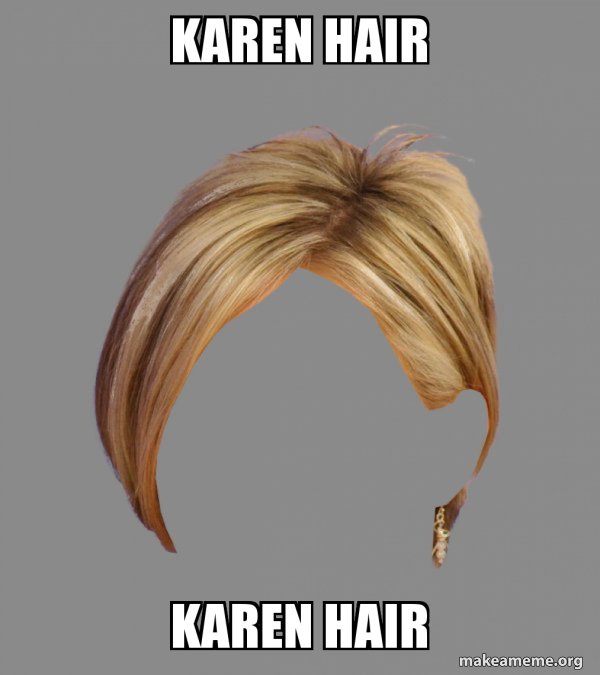 The Karen Hair meme