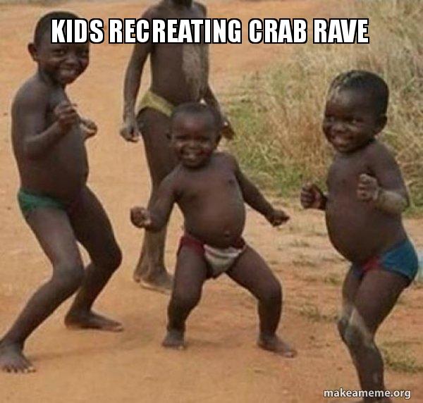 Kids Recreating Crab Rave - Dancing Black Kids | Make a Meme