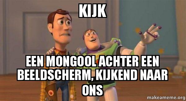 ... , kijkend naar ons - Buzz and Woody (Toy Story) Meme | Make a Meme