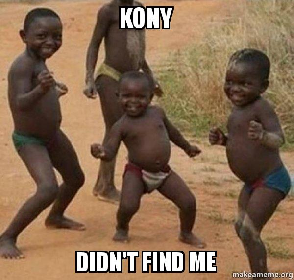 kony didn t find me dancing black kids make a meme