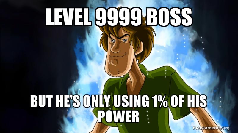 shaggy power meme